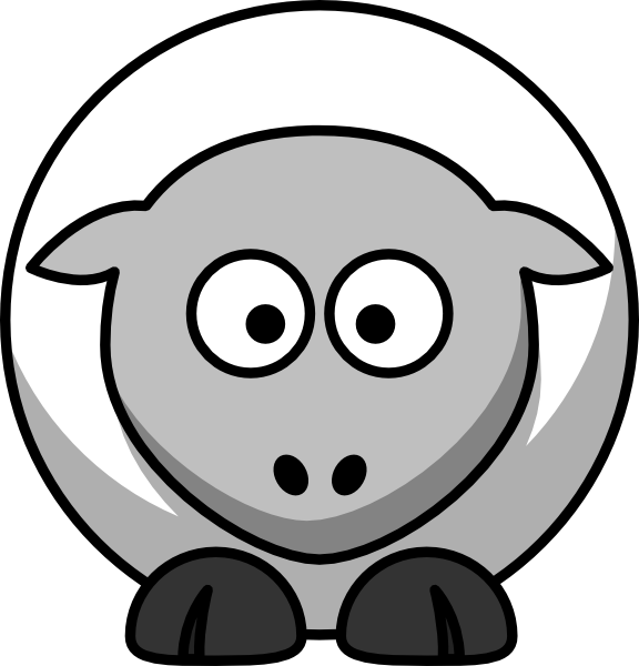 Clip Art Black And White Of Sheep   Free Cliparts That You Can
