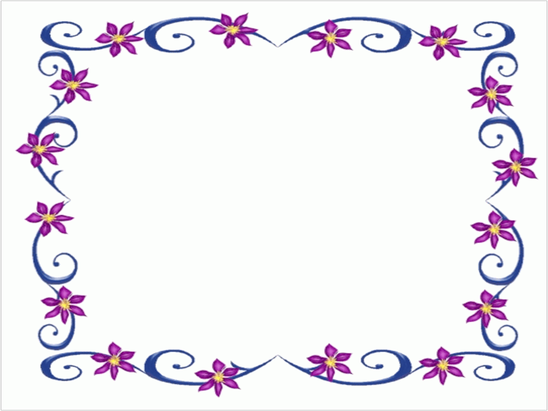 Clip Art Purple Flowers Powerpoint Borders Free Download Clipart Best