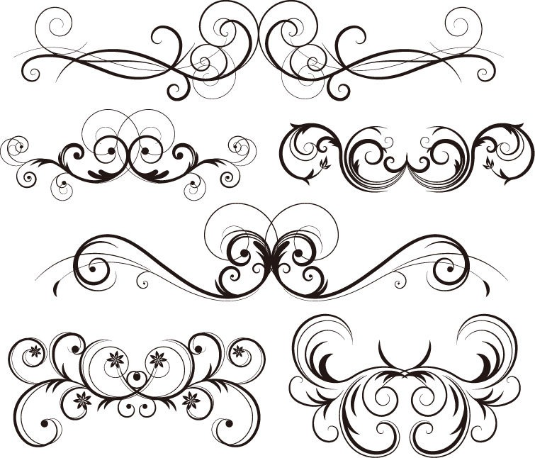 Free Ornate Vector Swirls   Flower Vector   Abstract