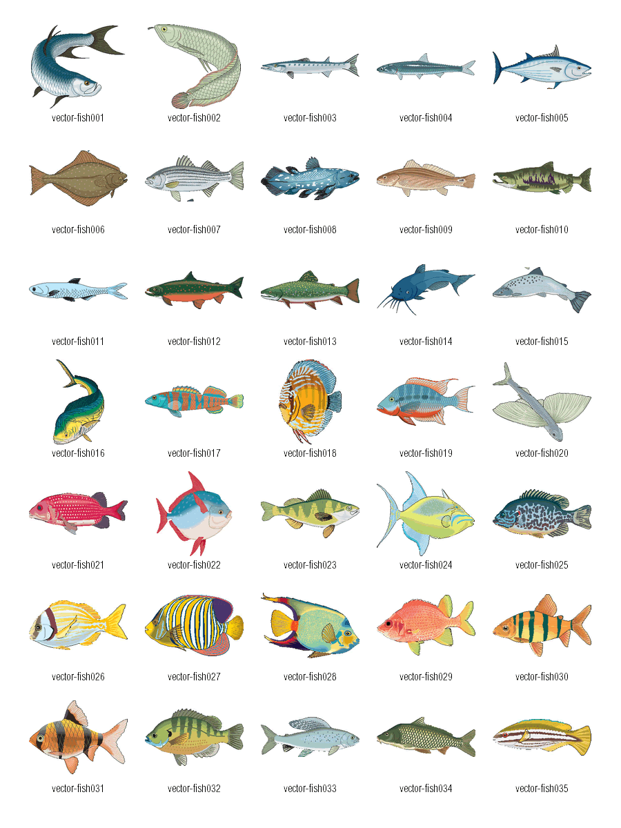 Free Vector Clipart Fish 2
