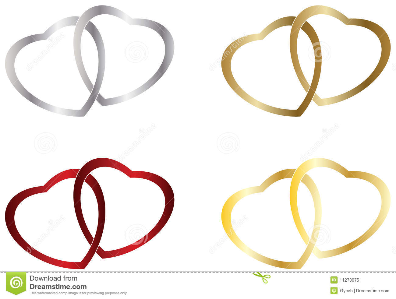 Free Wedding Heart Clip Art Wedding Heart Rings Royalty Free Stock