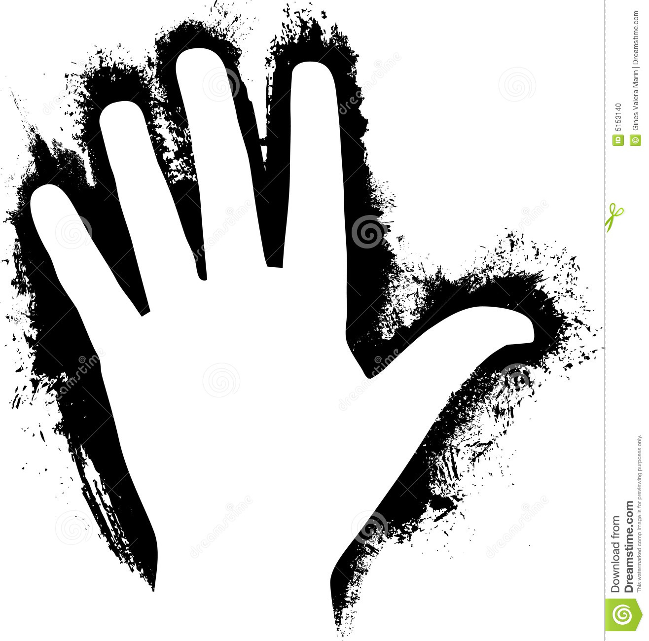 Handprint Clipart Black And White Paint Handprint