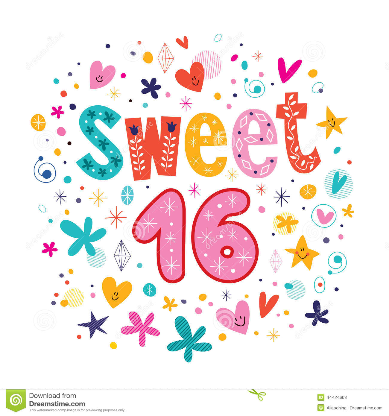 Sweet 16 Clipart 16th birthday clipart - clipart kid