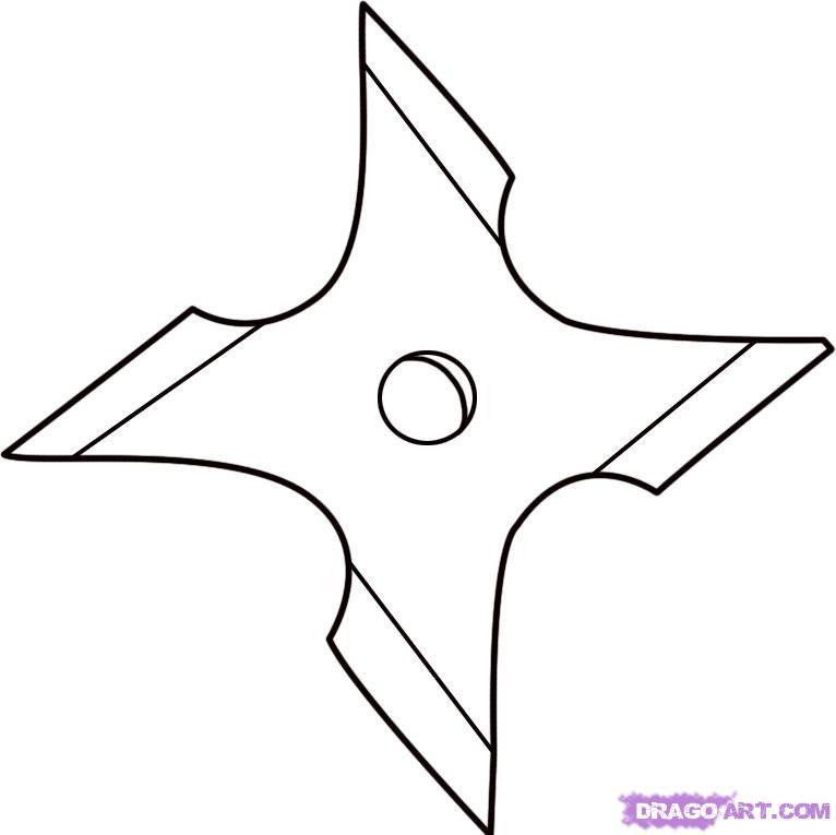 4 point ninja star clipart