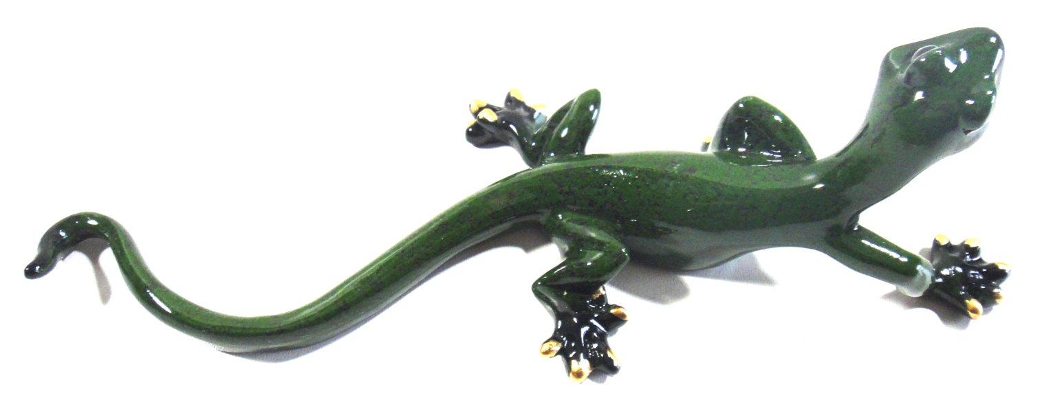 Resin Wall Art Decor Sculpture   Green Gecko Climbing Lizard   Ebay