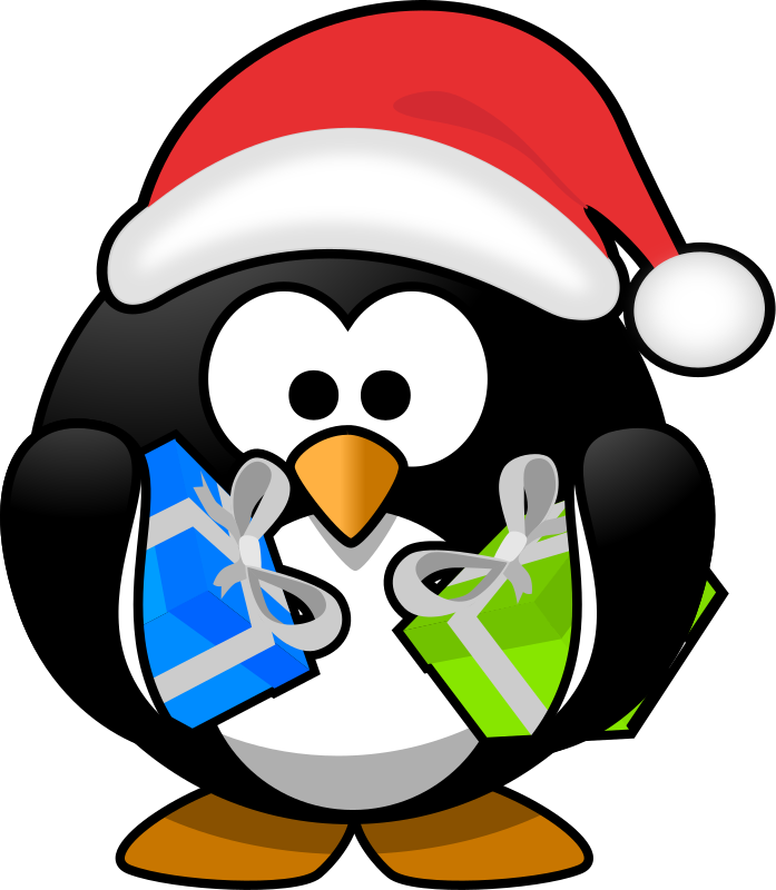 Santa Penguin By Moini   A Little Penguin Who Just Has Bought His