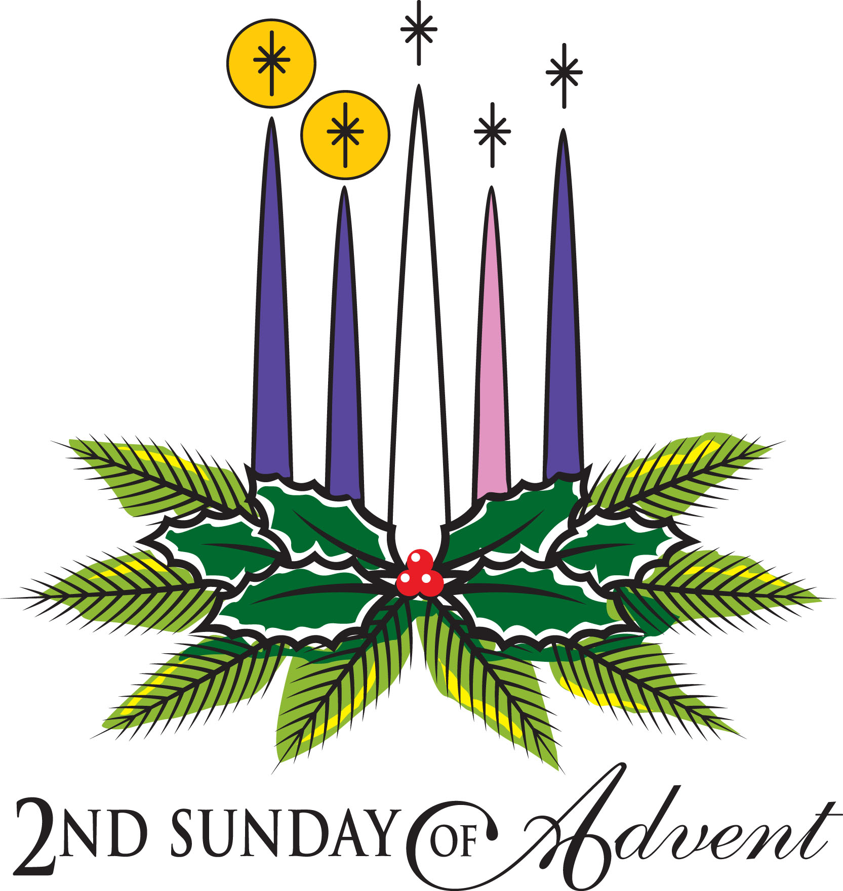 Advent Candle Images Clip Art 1st sunday in advent clipart - clipart ...