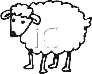 Sheep Clip Art Black And White
