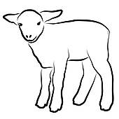 Black And White Sheep Clipart - Clipart Kid