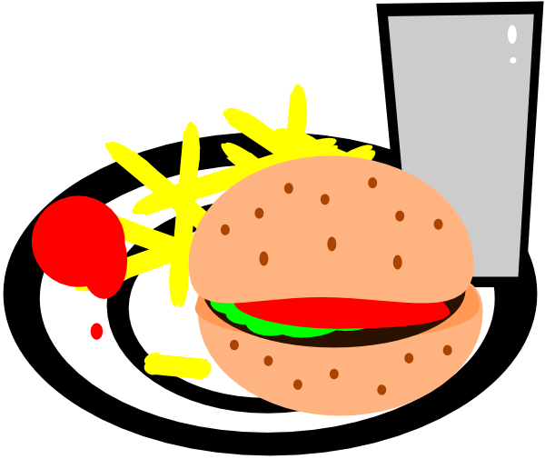 Burger And Fries Clip Art At Clker Com   Vector Clip Art Online