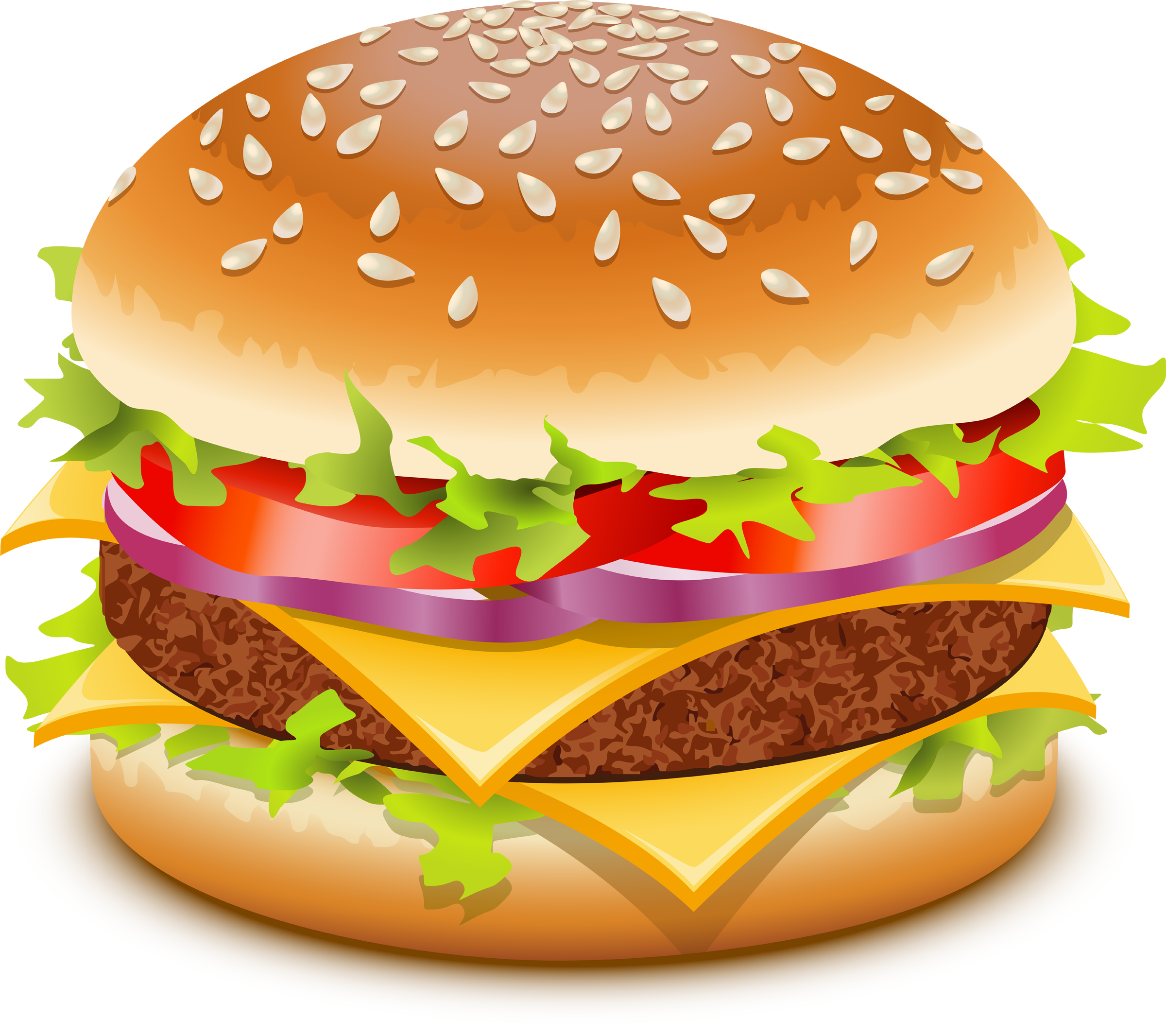 Burger Clipart - Clipart Kid