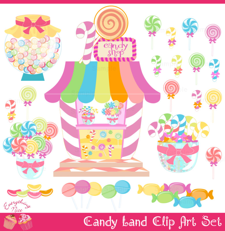 Candy Land Candy Shop Clip Art Set By 1everythingnice On Etsy