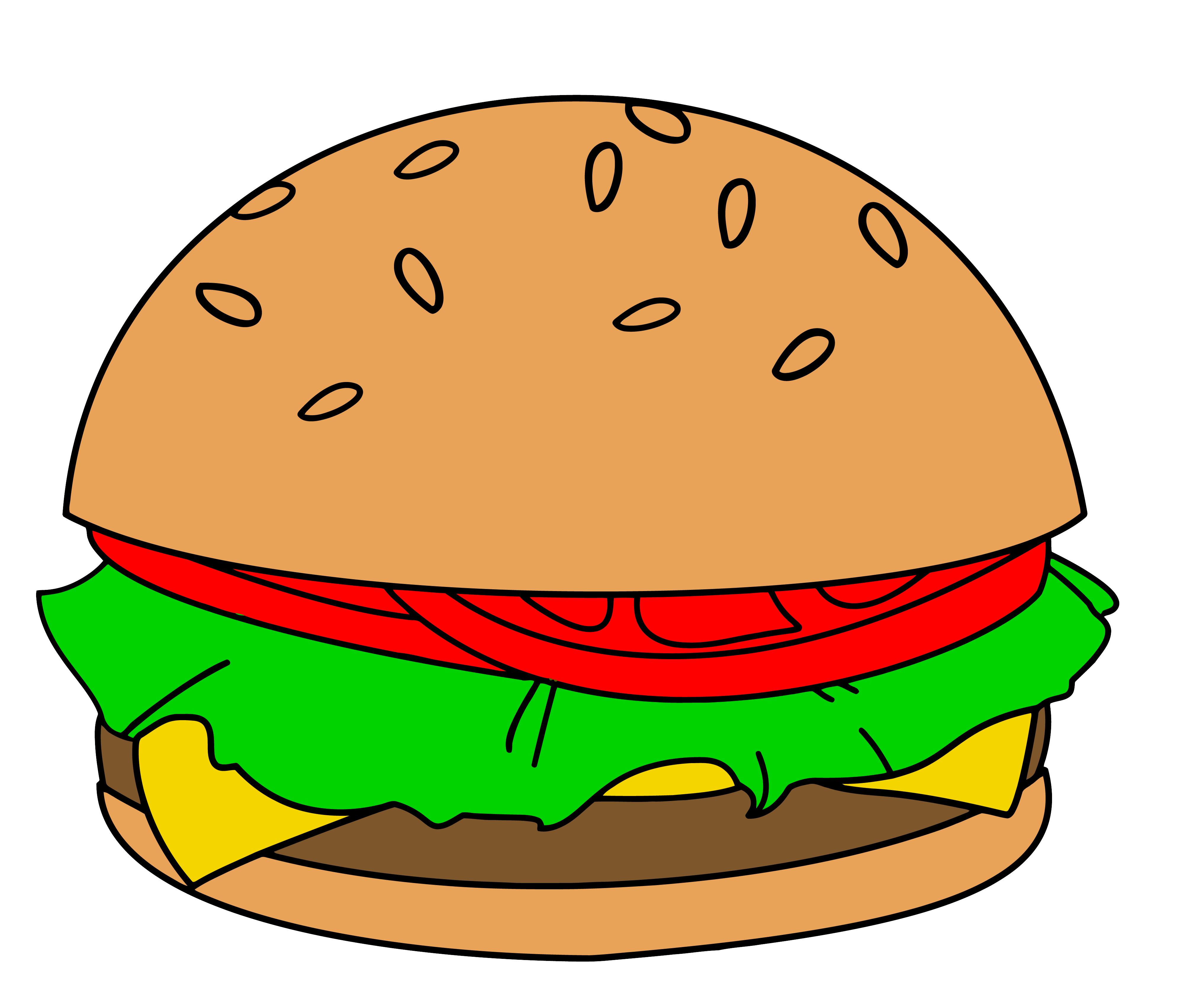 Hamburger cartoon clipart clipart suggest for Hamburger clipart