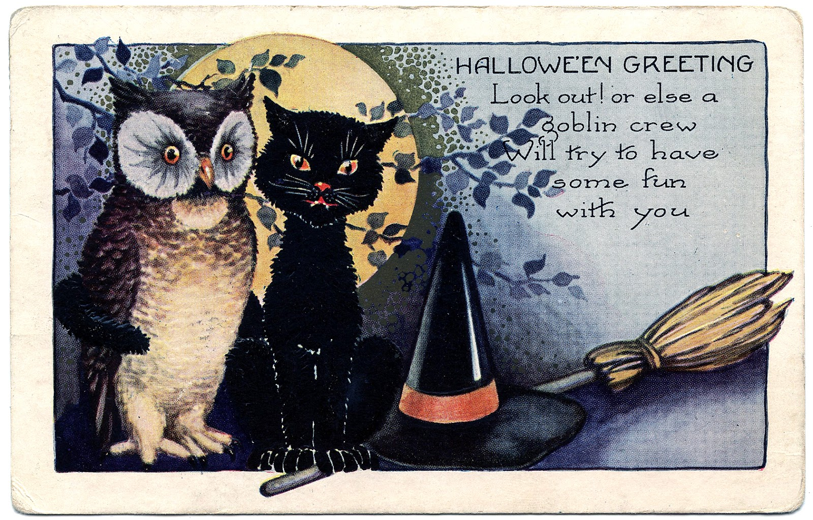 Vintage Halloween Clipart - Clipart Kid