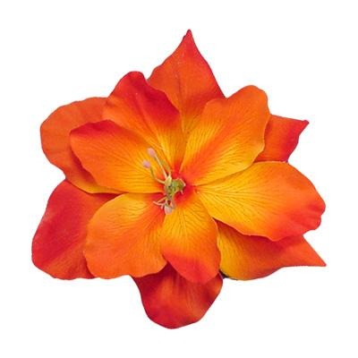 Image Of Orange Assorted Flowers Large  5 5 5 Inch  Alligator Hair