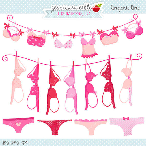 Clip Art Lingerie Clip Art lingerie shower clipart kid line cute digital commercial use ok bras on