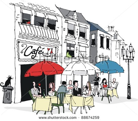 Of People Dining At French Cafe    88674259   Shutterstock