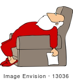 Santa Sleeping Clipart Clip Art Picture