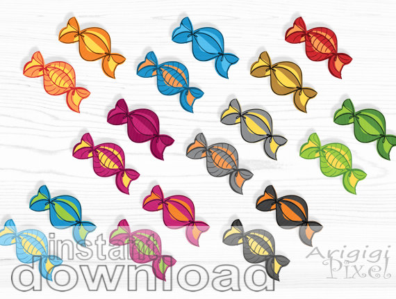 Set Small Bussines Use Digital Elements Candy Clipart Png Files