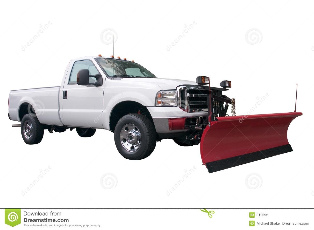 Snow Plow Truck Cartoon Clipart Kid Garden