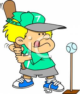 Young Child Playing T Ball Royalty Free Clipart Picture #BiFDcg ...