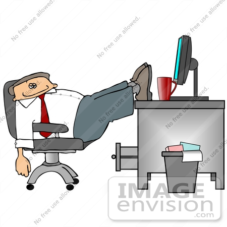 At The Office Clipart    19110 By Djart   Royalty Free Stock Cliparts