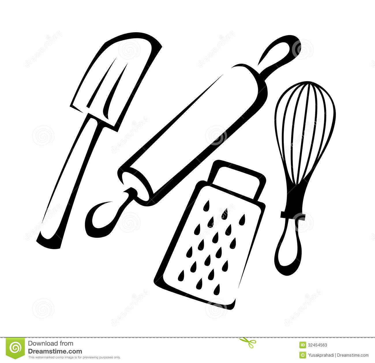 Baking Utensils Stock Photos   Image  32454563