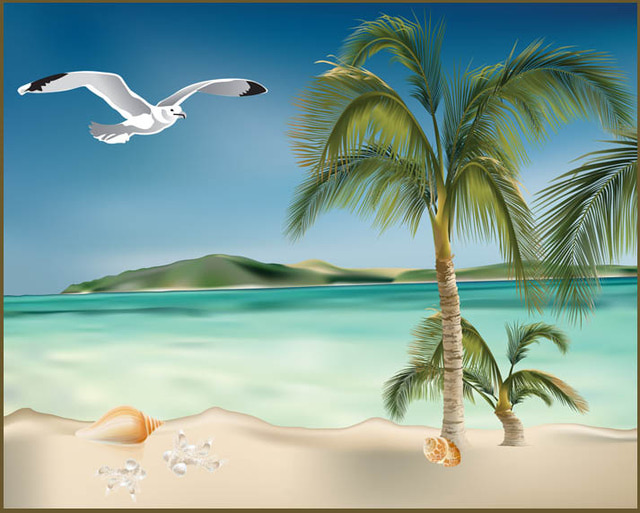 clipart beach scenes - photo #30