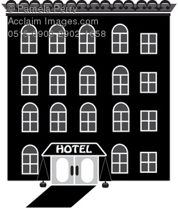 Hotel Black And White Clipart - Clipart Kid