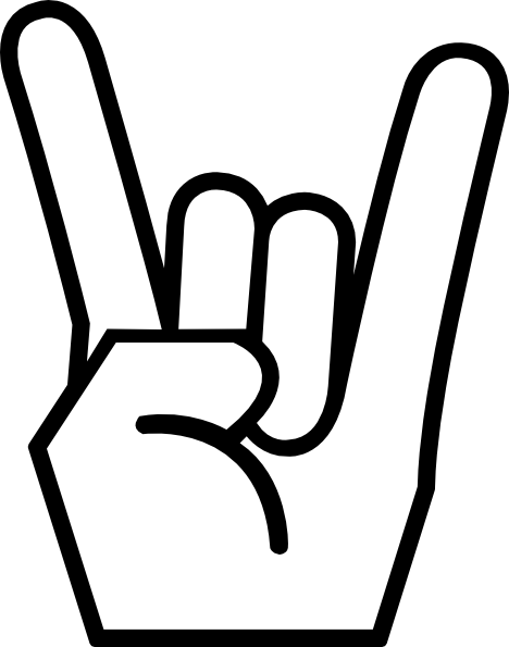 Rock Fingers Clipart - Clipart Kid