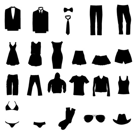 Free Vector Set Of Clothing Silhouette Clipart Vector Designs Image