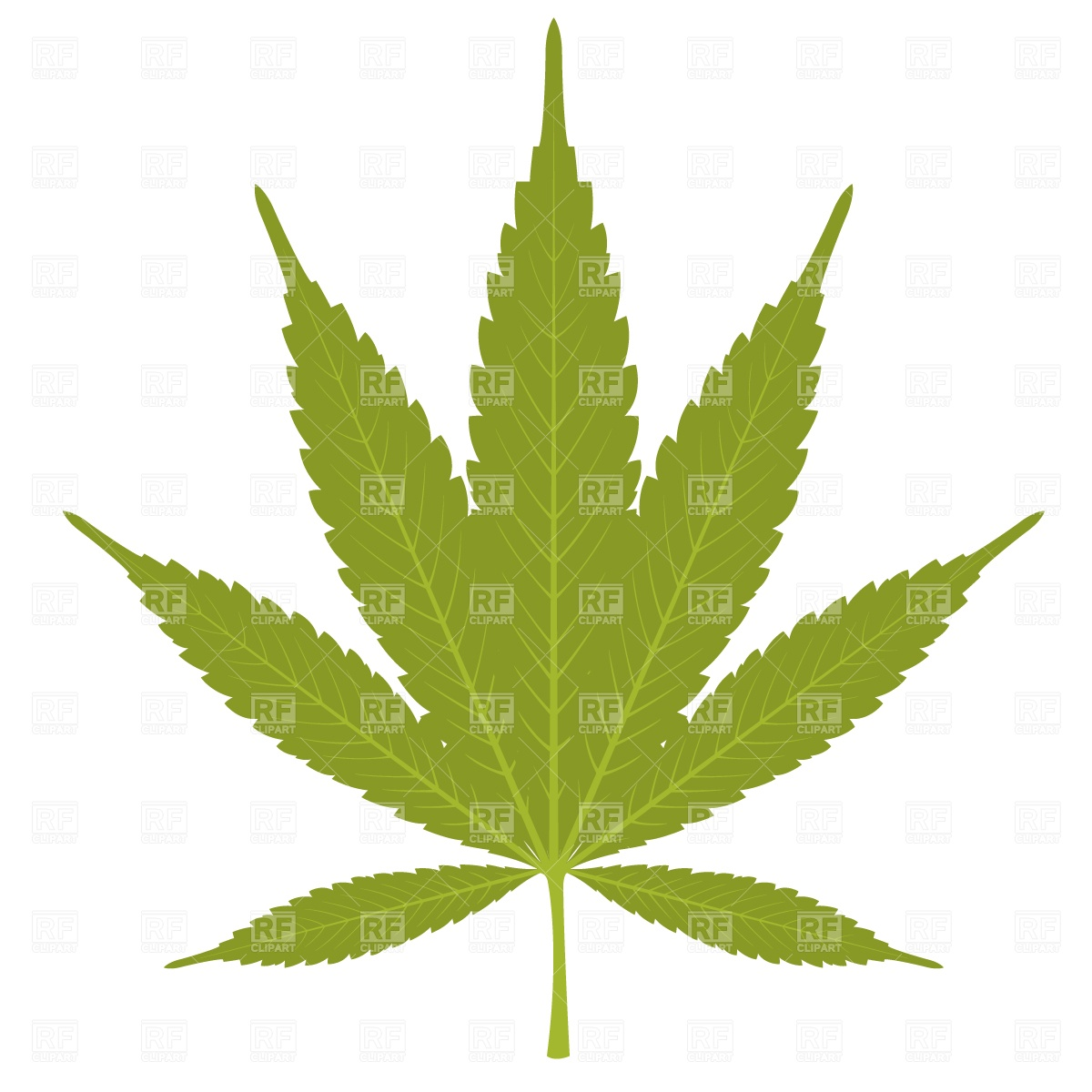 Green Marijuana Leaf Download Royalty Free Vector Clipart  Eps