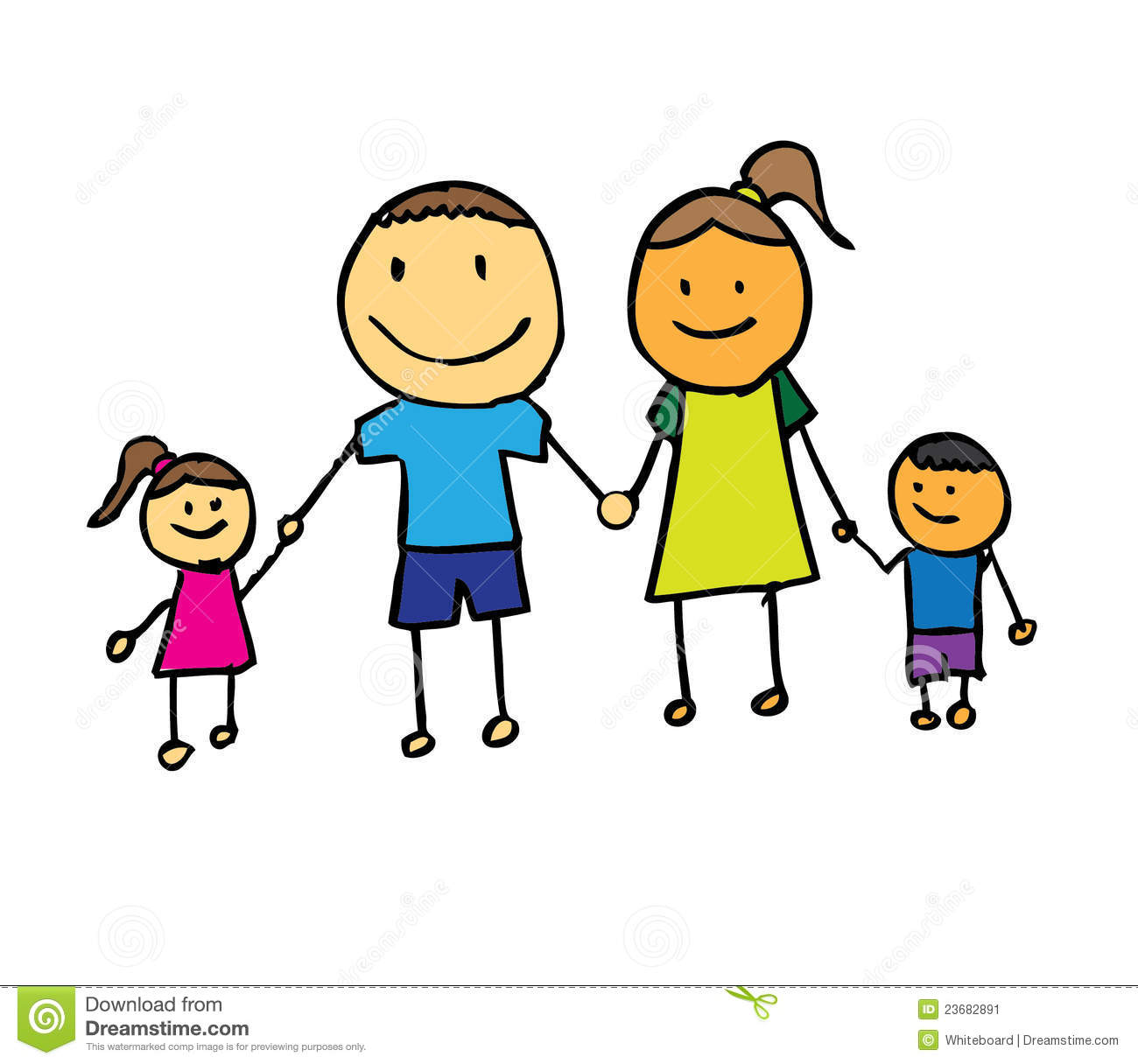 Happy Family With Fathermother And Son Holding H Stock Image   Image