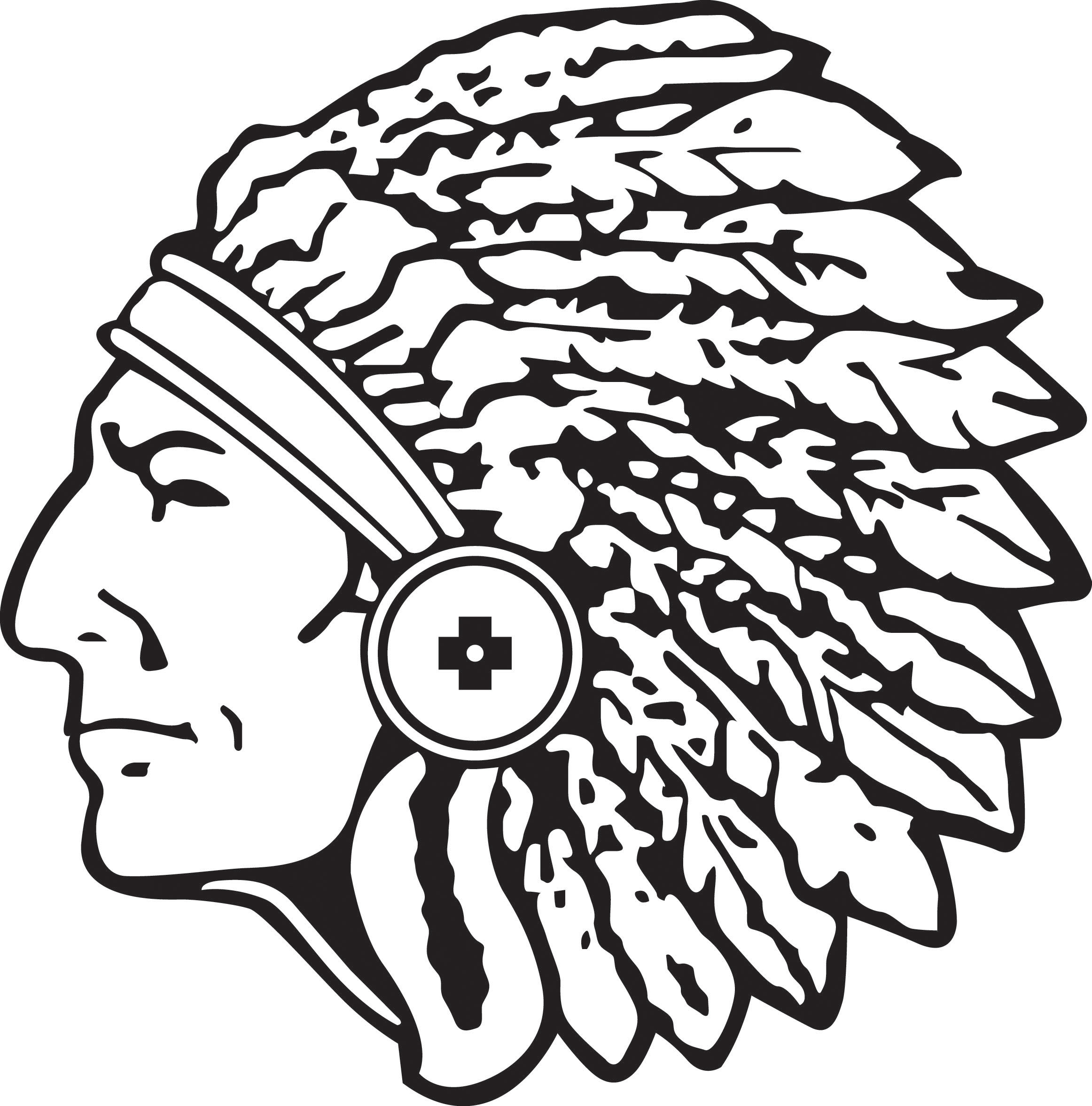 Indian Head Silhouette Clipart
