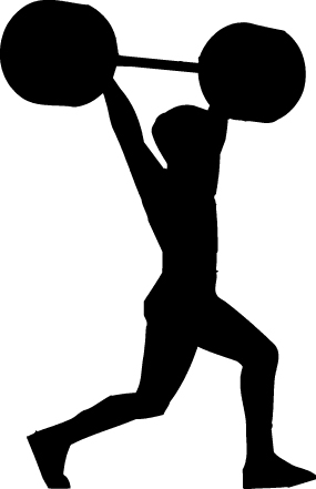 Man Lifting Weights Clipart Weight Lifting Clipart