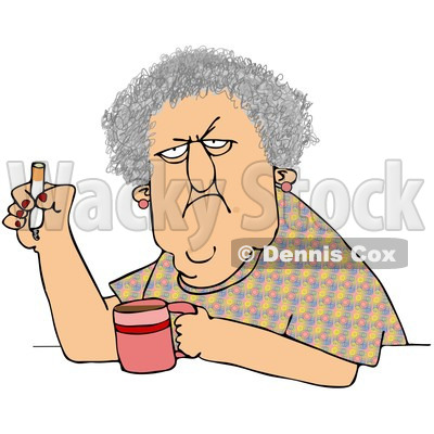 Mean Old Lady Clipart Old Lady Cartoon Clip Art  Old