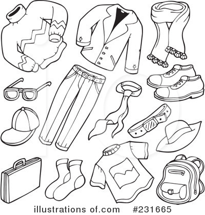 Clip Art Clipart Clothes mens clothing clipart kid royalty free rf clothes illustration by visekart stock