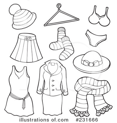 Royalty Free  Rf  Clothes Clipart Illustration By Visekart   Stock
