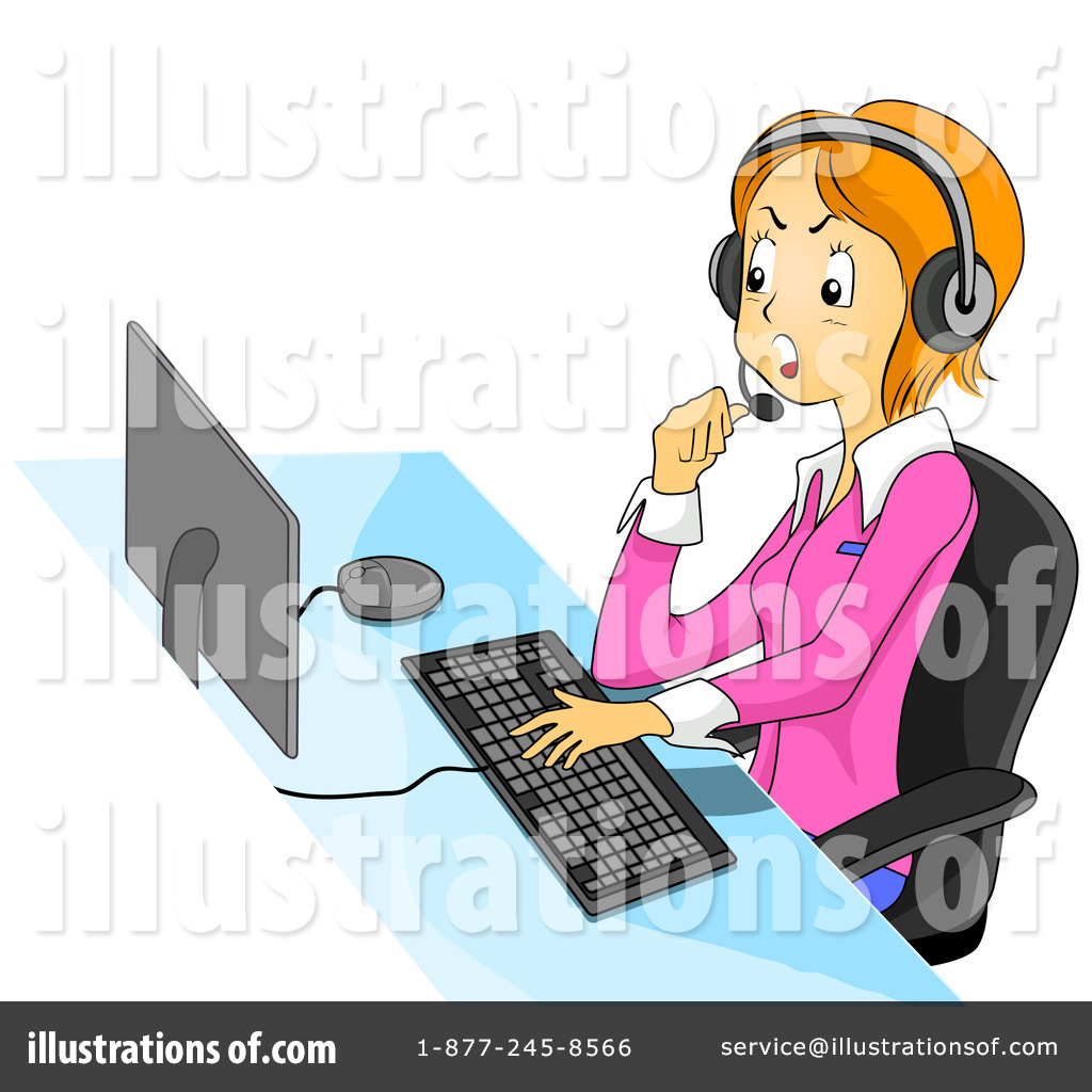 Royalty Free  Rf  Customer Service Clipart Illustration  432874 By Bnp