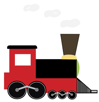 Train Clipart For Wall Murals