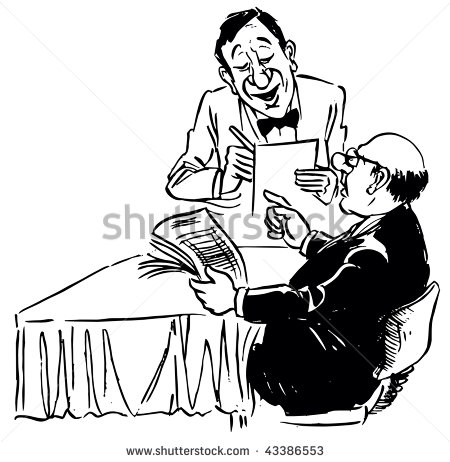 Waiter And Customer Clip Art