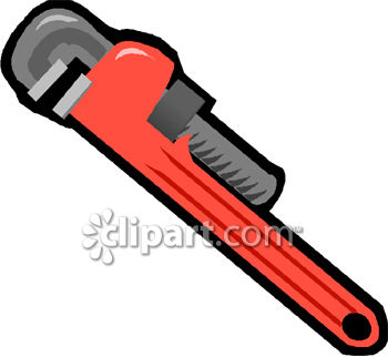 0060 0807 2514 4455 Plumbers Pipe Wrench Clipart Image Jpg