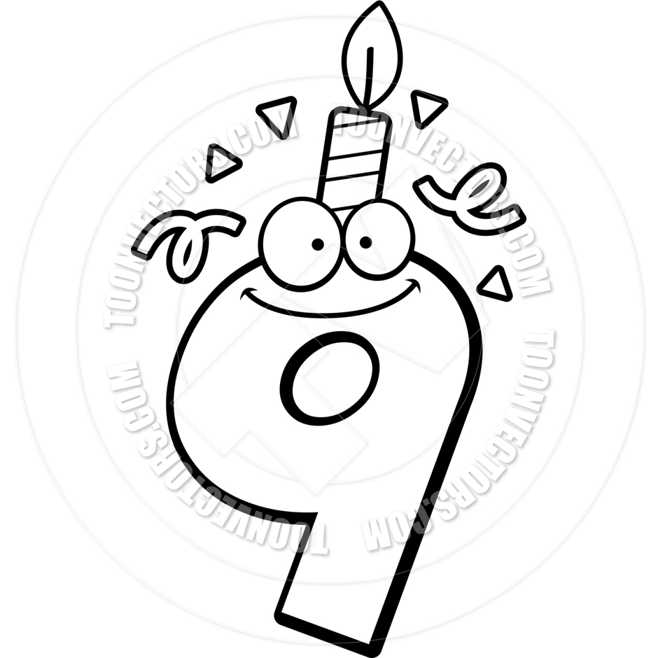 Line Art Numbers : Black and white number clipart suggest