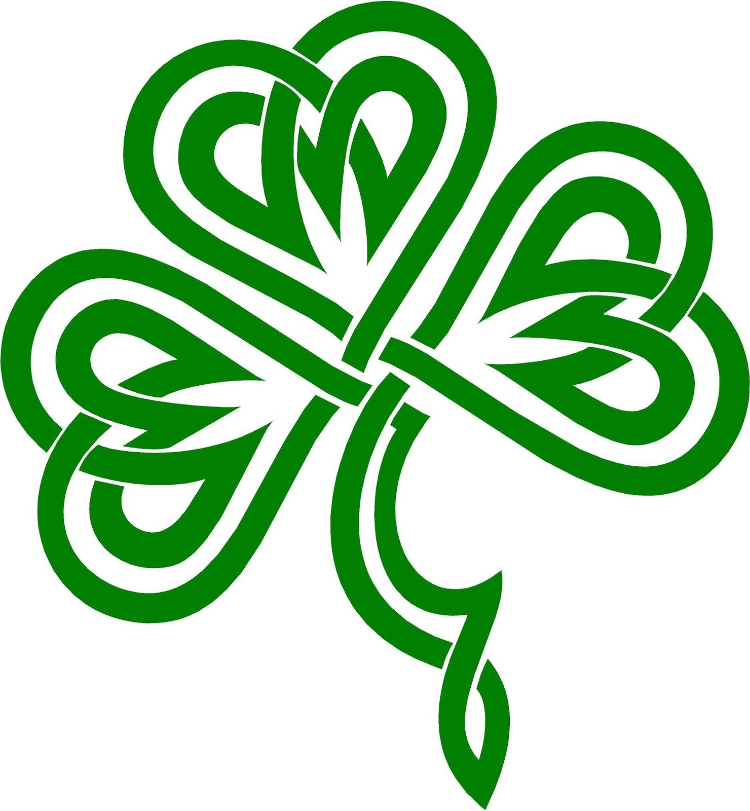 Celtic Shamrock Clipart - Clipart Kid