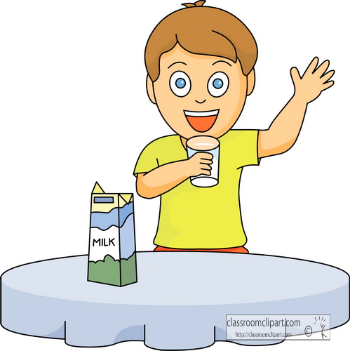 Dairy Clipart   Dairy Food Boy Drinking Milk   Classroom Clipart