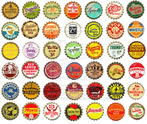 Digital Clipart  Very Vintage Bottlecaps By Uncommonannie On