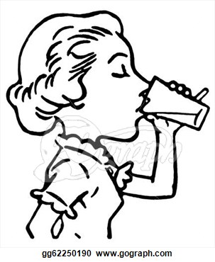 Drinking Clip Art Drinking Clipart Black And