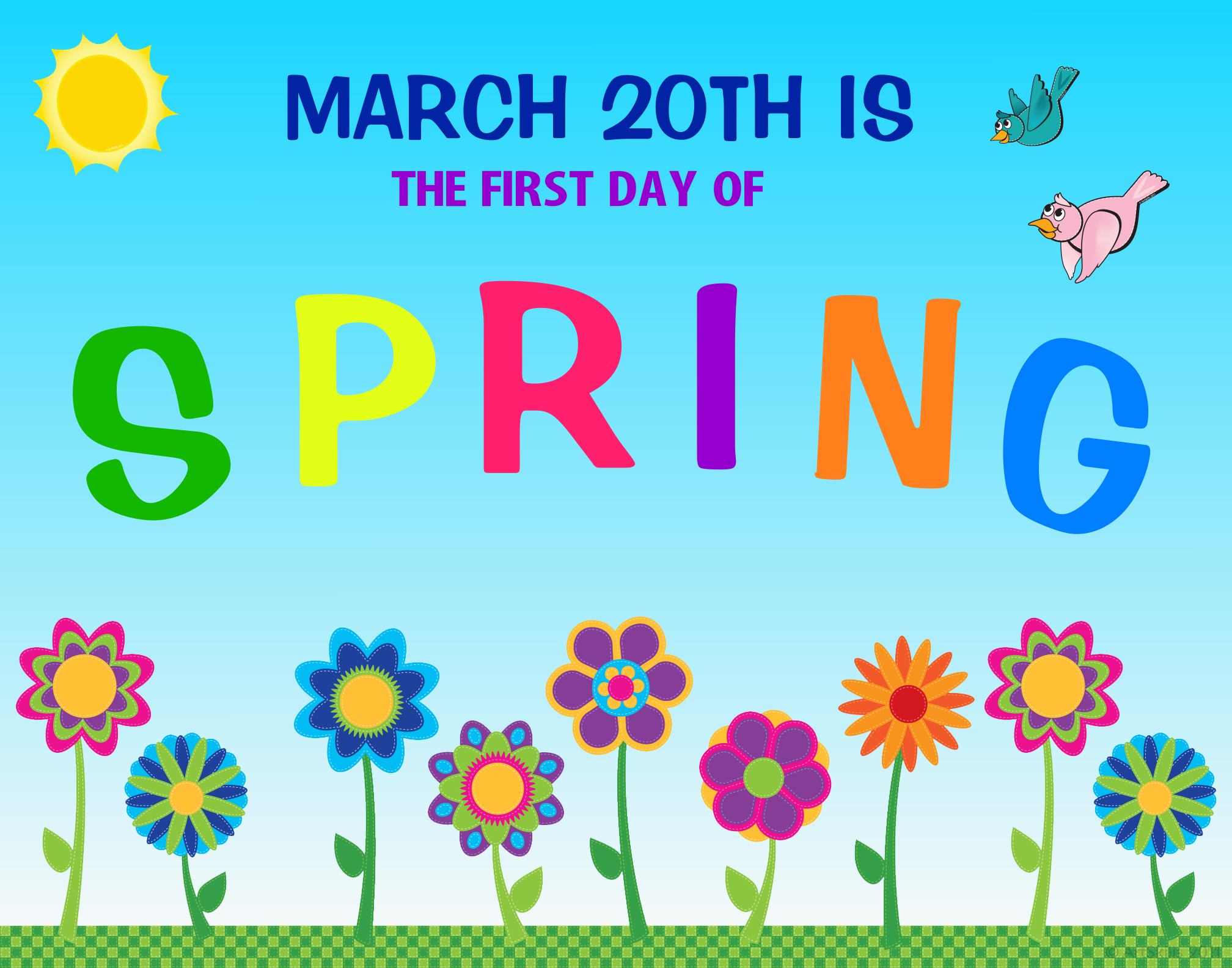 First Day Of Spring Clipart - Clipart Suggest