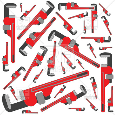 Gas Pipe Wrench Pattern Download Royalty Free Vector Clipart  Eps