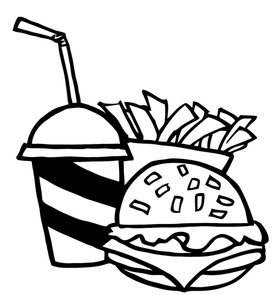Drink Black And White Clipart - Clipart Kid